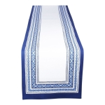 Porto Blue Stripe Printed Cotton Table Runner Cloth 14x72 from Design Imports