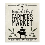Bushel & Peck Farmers Market Swedish Cotton Dishcloth from Design Imports