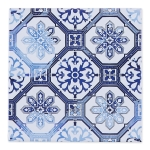 Lisbon Tile Earthenware Trivet Tray 8x8 from Design Imports