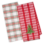 Jolly Christmas Tree Cotton Kitchen Dish Towel Set of 2 from Design Imports