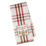 Warmest Wished Gingerbread Themed Embellished Cotton Kitchen Dish Towel 18x28 from Design Imports