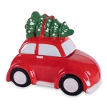 Red Christmas Tree Car Earthenware Cookie Jar 10x6x8 from Design Imports