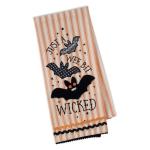 Just A Wee Bit Wicked Bats Embellished Cotton Kitchen Dish Towel 18x28 from Design Imports