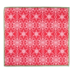 Joyful Red & White Snowflakes Print Design Countertop Dish Drying Mat from Design Imports