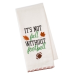 It's Not Fall Football Embellished Cotton Kitchen Dish Towel 18x28 from Design Imports