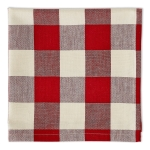 Garnet Red Buffalo Check Design Cotton Table Napkin 20x20 from Design Imports