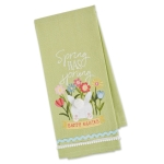 Bunny Bum Spring Has Sprung Embellished Cotton Kitchen Dish Towel 18x28 from Design Imports