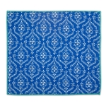 Blue Lace Geometric Design Countertop Dish Drying Mat 16x18 from Design Imports