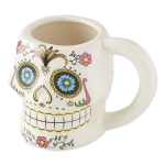 Sugar Skull Decorative Ceramic Mug from Design Imports