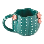 Green Cactus Design Ceramic Coffee Mug from Design Imports