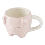 Pink Pig Shaped Ceramic Coffee Mug from Design Imports