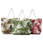 Set of 3 Palm Tree Print Beach Tote Bags from Design Imports