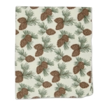 Pinecone Print Fleece Cotton Throw 50x60 from Design Imports