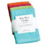 Set of 4 Brightly Colored Cotton Bar Mop Cloths 12x12 from Design Imports