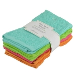 Set of 4 Bright Bar Mop Cotton Dish Towels 16x19 from Design Imports