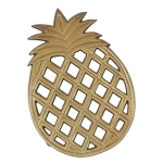 Gold Colored Pineapple Trivet Tray from Design Imports