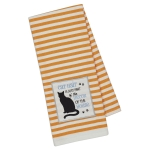 Cat Lover Cat Hair Is Part of The Décor Embellished Cotton Dish Towel 18x28 from Design Imports