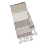 Oversized Natural Texture Earth Tones Cotton Fouta Kitchen Towel 39x78 from Design Imports
