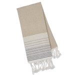 Taupe Diamond Fouta Cotton Kitchen Oversized Dish Towel 39x78 from Design Imports