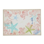 Coral Sea Design Cotton Printed Table Placemat 13x19 from Design Imports