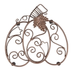 Pumpkin Scroll Iron Trivet Tray from Design Imports