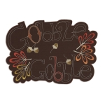Gobble Gobble Embroidered Cotton Table Placemat 13x19 from Design Imports