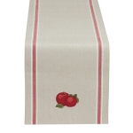 Apple Embellished Design Cotton Table Runner Cloth 14x72 from Design Imports