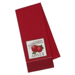 Farmers Market Apples Red Embellished Cotton Dish Towel 18x28 from Design Imports
