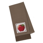 Red Delicious Apple Embellished Cotton Dish Towel 18x28 from Design Imports