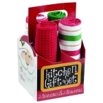 Here Come's Santa! Kitchen Towels Gift Set from Design Imports