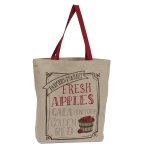 Farmers Market Fresh Apples Printed Cotton Tote Bag from Design Imports