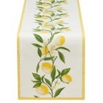 Lemon Bliss Cotton Printed Table Runner Cloth 14x72 from Design Imports