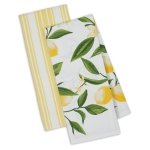 Lemon Bliss Cotton Dish Towels 18x28 Set of 2 from Design Imports