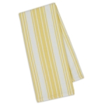 Lemon Zest Stripe Cotton Dish Towel 18x28 from Design Imports