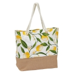 Lemon Bliss Printed Cotton Tote Bag from Design Imports