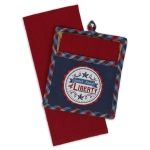 Land Of Liberty Potholder Gift & Waffle Towel Gift Set from Design Imports