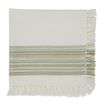 Thyme Green Fringed Cotton Table Napkin 20x20 from Design Imports