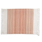 Pimento Striped Fringe Cotton Table Placemat 13x20 from Design Imports
