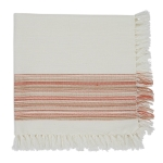 Pimento Fringe Cotton Table Napkin 20x20 from Design Imports