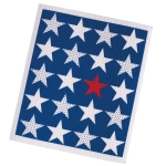 Red White & Blue Stars Print Swedish Dishcloth from Design Imports