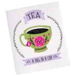 Tea A Hug In A Cup Swedish Dishcloth from Design Imports