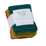 Rustic Bar Mop Cotton Dishcloth Set of 4 (Red Orange Green Blue) 12x12 from Design Imports