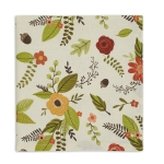 Botanical Fall Themed Cotton Printed Table Napkin 20x20 from Design Imports