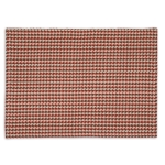 Pumpkin Orange Houndstooth Cotton Table Placemat 14x20 from Design Imports