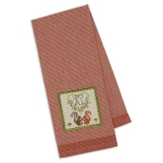 Squirrel Themed Let's Fall in Love Embellished Cotton Dish Towel 18x28 from Design Imports