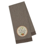 I Love Fall Embellished Cotton Dish Towel 18x28 from Design Imports