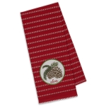 Cheer Pinecone Embellished Cotton Dish Towel 18x28 from Design Imports