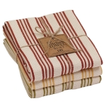 Harvest Time Colors Heavyweight Cotton Dish Towels 18x28 Set of 3 from Design Imports