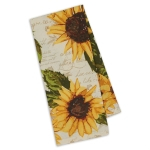 Rustic Sunflowers Printed Cotton Dish Towel 18x28 from Design Imports