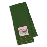 Merry Holly Design Embellished Cotton Dish Towel 18x28 from Design Imports